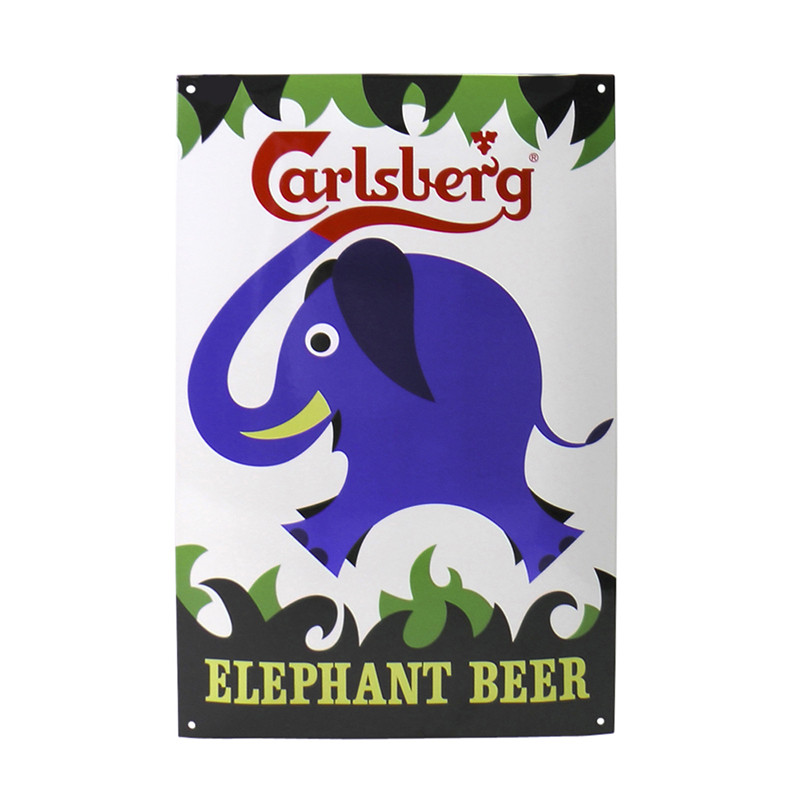 "Carlsberg Enamel Sign ""Elephant"""