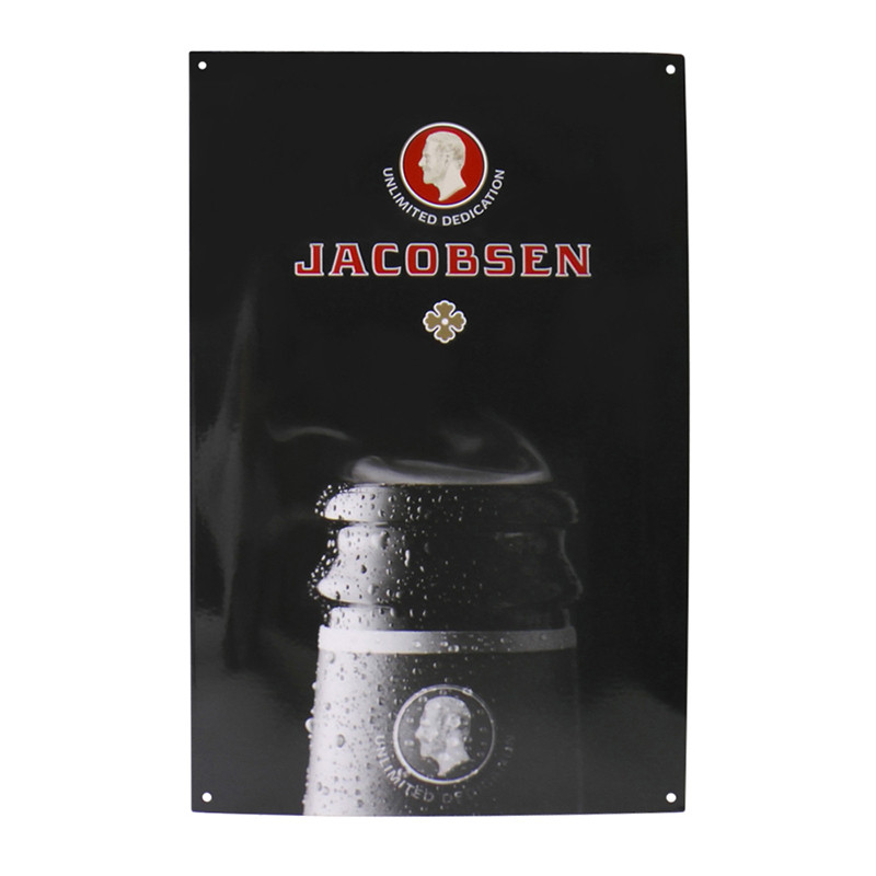 Jacobsen Enamel Sign