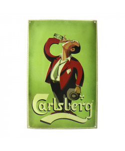 "Carlsberg Enamel Sign ""Drinking man"""