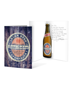 Carlsberg Lager Beer Copenhagen Pop Up Card
