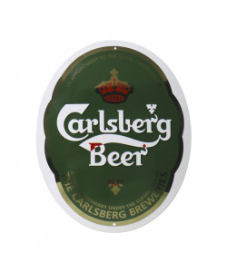 "Carlsberg Enamel Sign ""Beer Logo"""